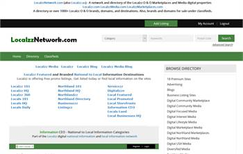 LocalzzNetwork.com  - A network and directory of the Localzz O & O Marketplaces